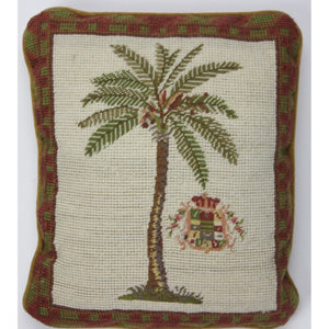Needlepoint 'Palm Tree' Pillow