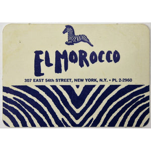 El Morocco Club Member's Card