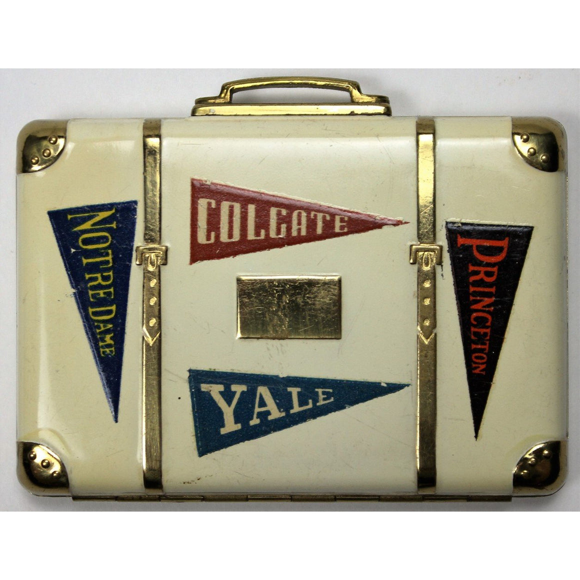 Ivy League 7 Pennant Suitcase Compact
