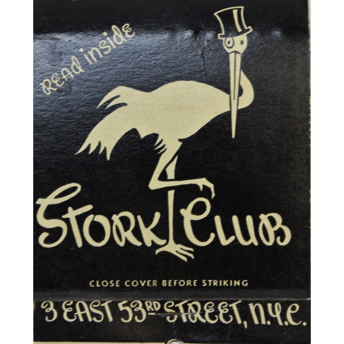 Stork Club Oversize Matchbook