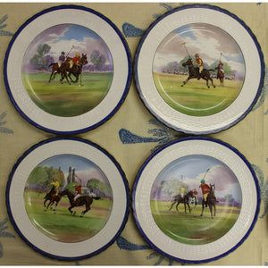 Set of 18 Minton English China 'Polo' Dinner Plates