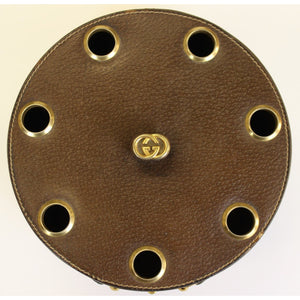 Gucci 7 Pipe Leather Holder w/ Brass Horsebit