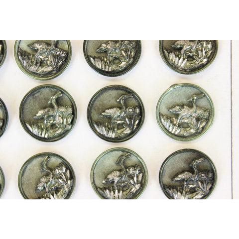 24 19th Century Silver Buttons Made in Paris