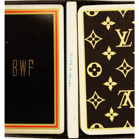 "Louis Vuitton Twin Deck of ""BWF"" Playing Cards"