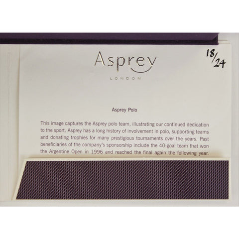 Boxed Limited Edition Asprey Polo Jigsaw Puzzle Set