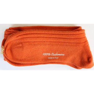 Turnbull & Asser Orange Cashmere O/C Hosiery (NwT!)