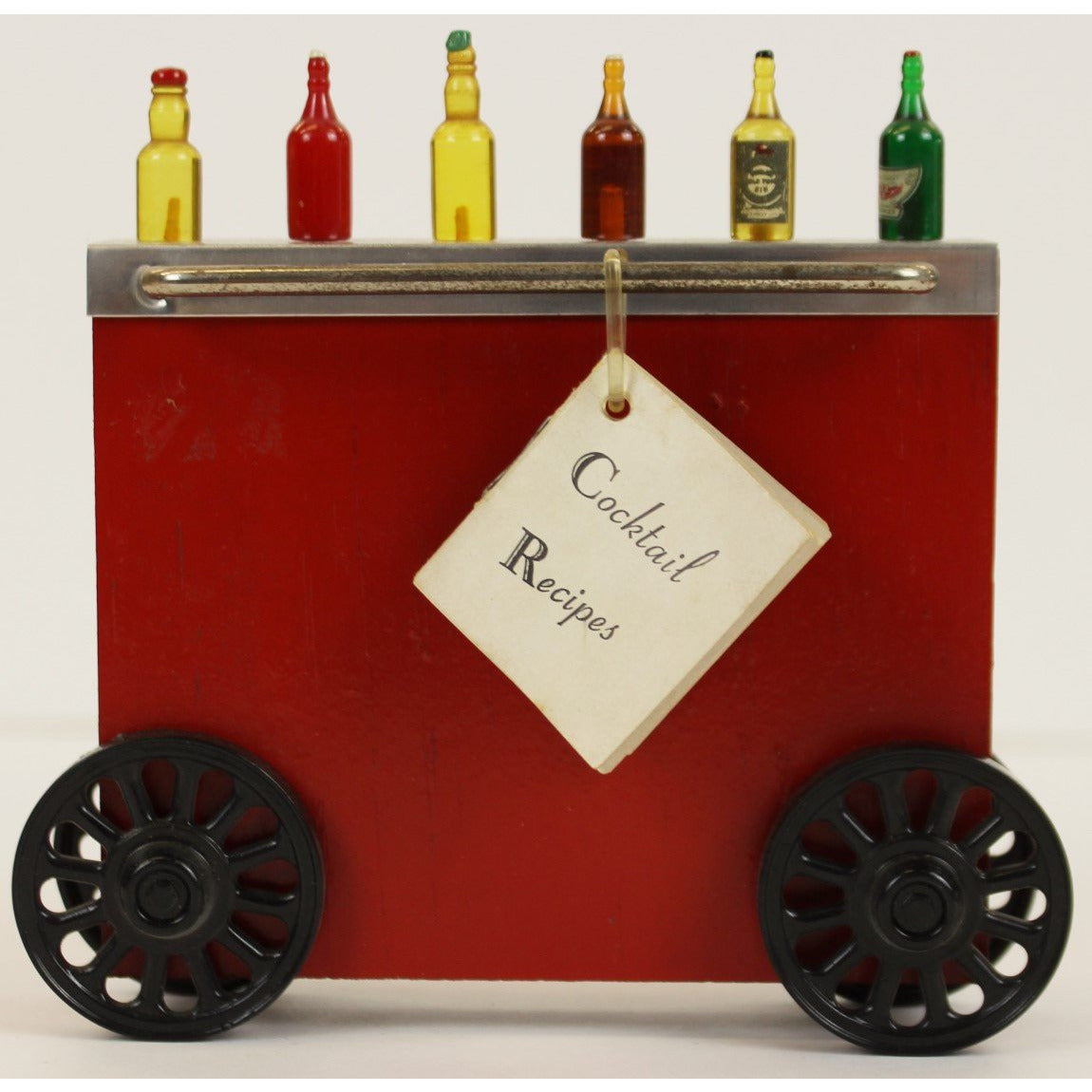 Wonder Bar on Wheels w/ (6) Bottle/ Garnish Sticks