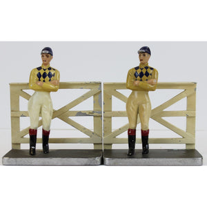 Pair of Jockey 1940s Bookends