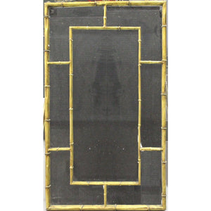 Vintage Gilt Brass Bamboo Mirror
