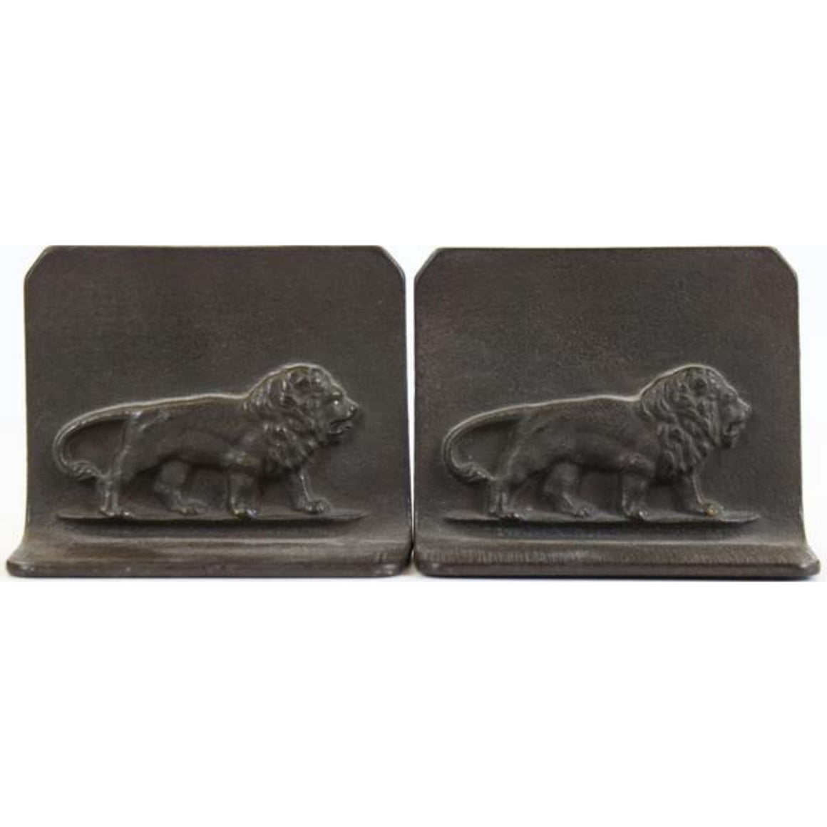'Pair of Art Deco Bronze 'Stalking Lions' c.1930's Bookends'