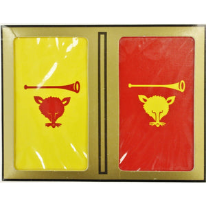 Twin Deck of Myopia Hunt Club Sealed Playing Cards with Fox & Hunting Horn Logo