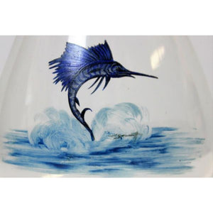 Abercrombie & Fitch Sailfish 'Balloon' Martini Mixer Hand-Painted by Cyril Gorainoff