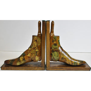 Decoupage Women's Shoe Bookends