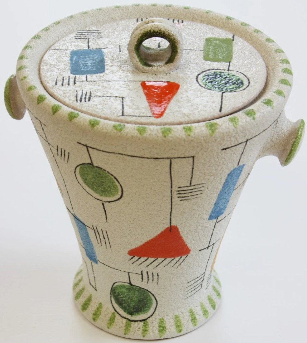 Vintage Italian Ceramic Ice Bucket