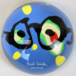 Paul Smith 'Spectacles' Glass Paperweight