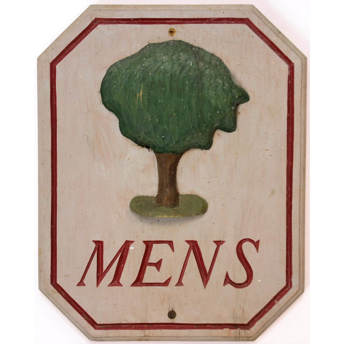 Burning Tree Country Club Wood Men's Locker Room Sign
