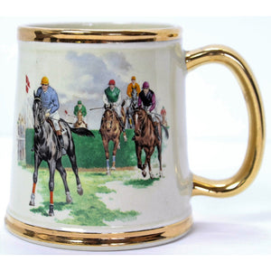 Gibsons Staffordshire Jockey on Racehorse Mug