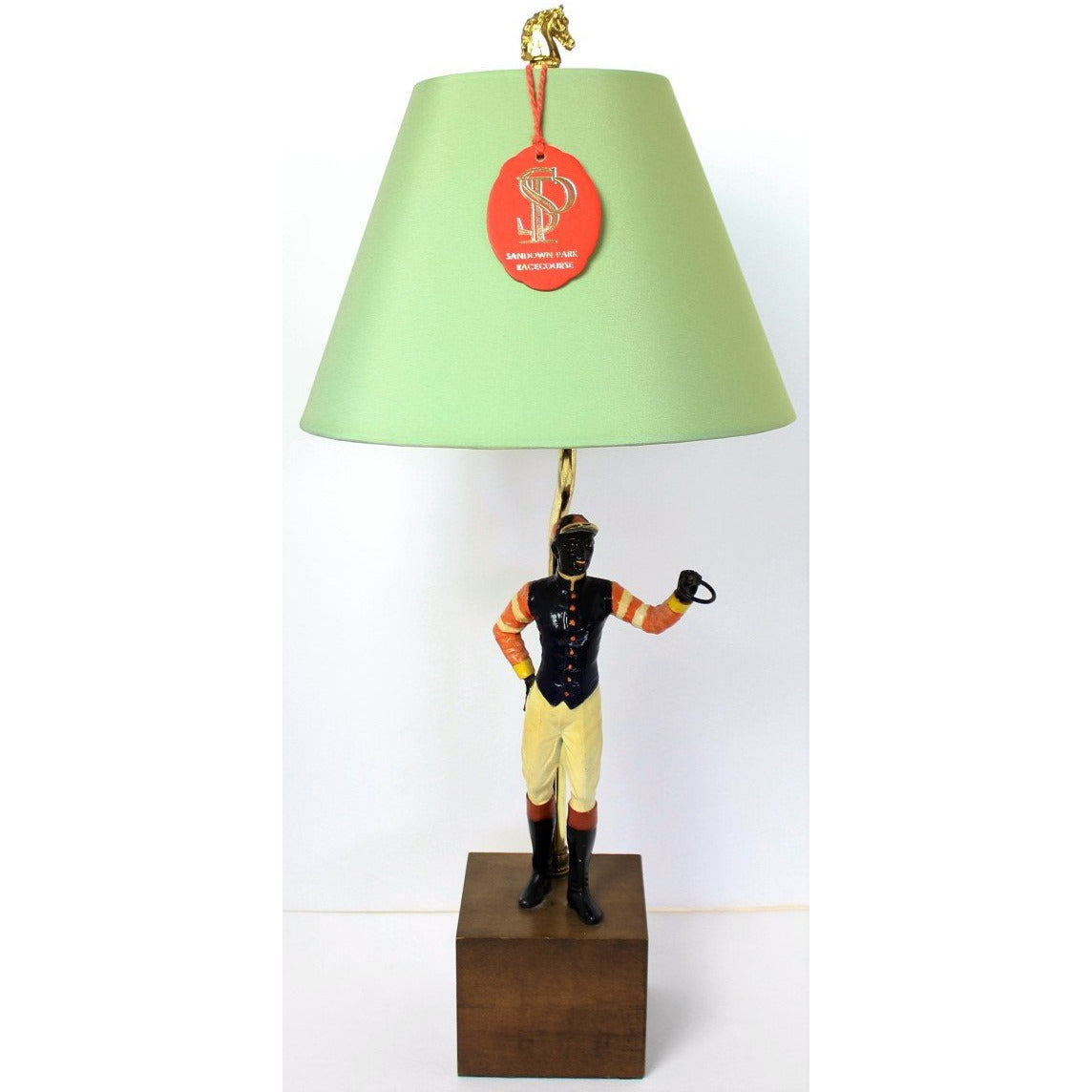 """21"" Club jockey lamp"
