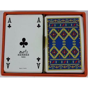Hermes Boxed Twin Deck of Bridge Cards