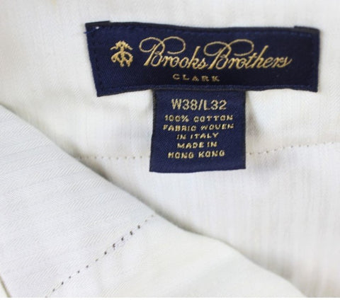 Brooks Brothers Tobacco Brushed Twill Trousers
