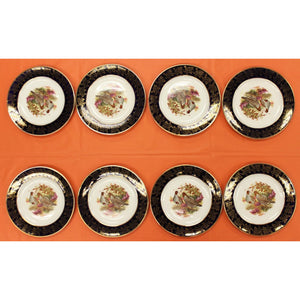 Set of 8 Brooks Brothers Quail Dinner Plates