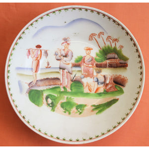 Chinoiserie Palm Tree 19th Century Tea Service