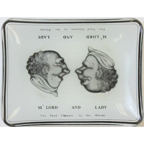 """Two Faced Characters by Rex Whistler, M' Lord and Lady Ashtray"""