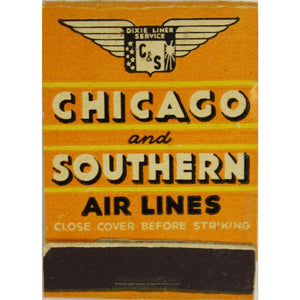 Chicago & Southern Airlines Matchbook