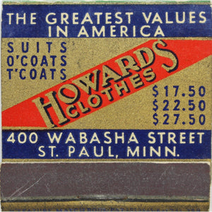 Howard's Clothes Matchbook