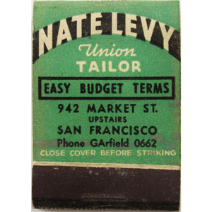 Nate Levy Union Tailor 15 Matchbook