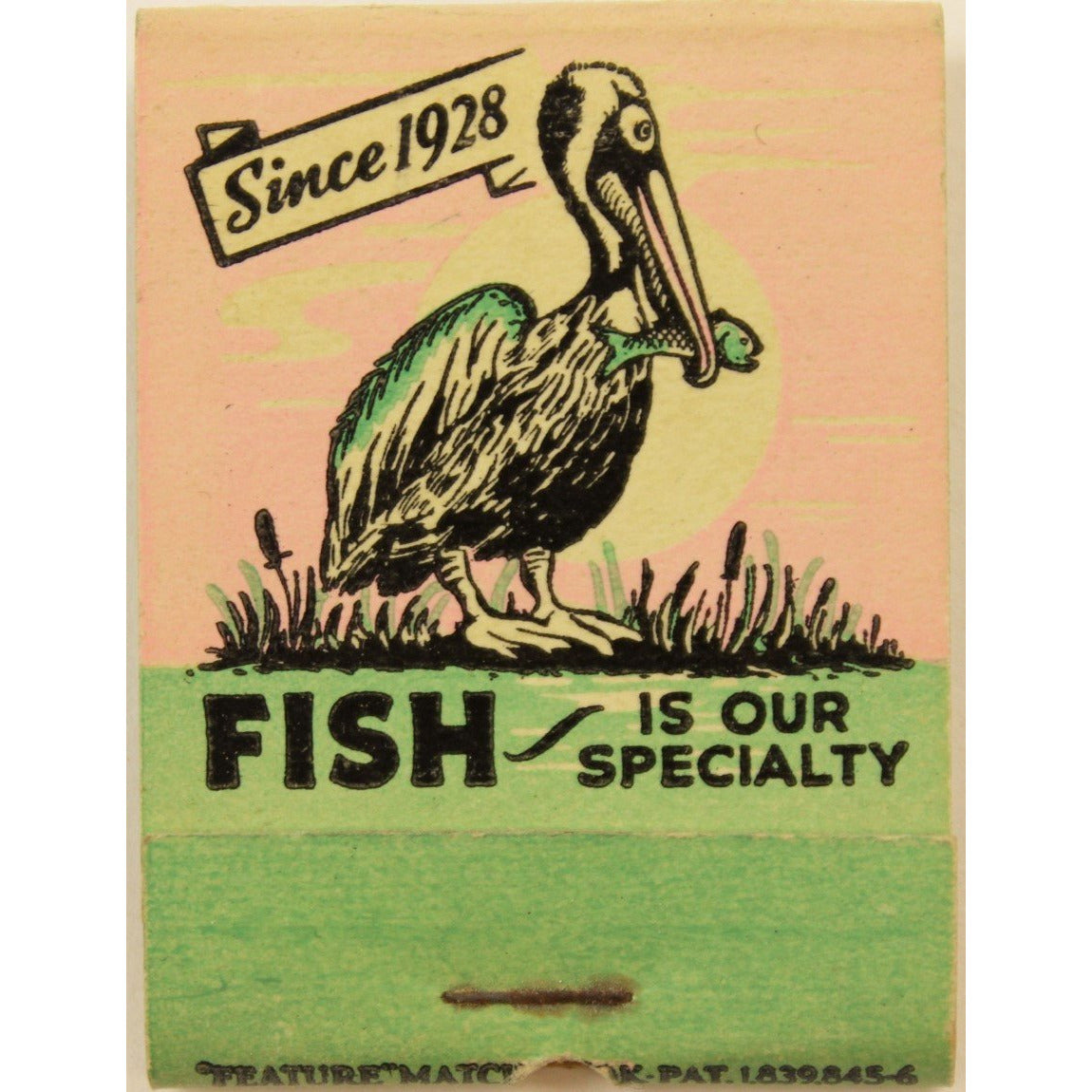 Pelican Restaurant 15 Matchbook