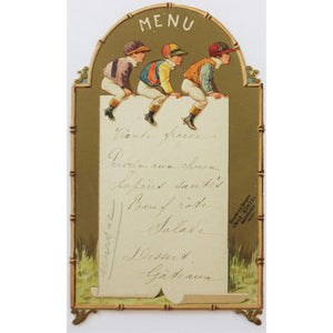 Three Jockeys Paris Restaurant Menu Card