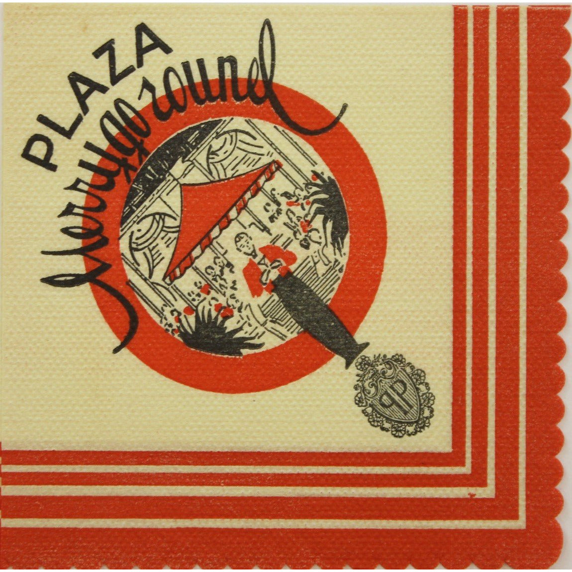 "The Plaza Hotel 'Merry Go Round"" Cocktail Napkin"