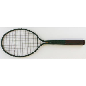 Green Metal Tennis Racquet
