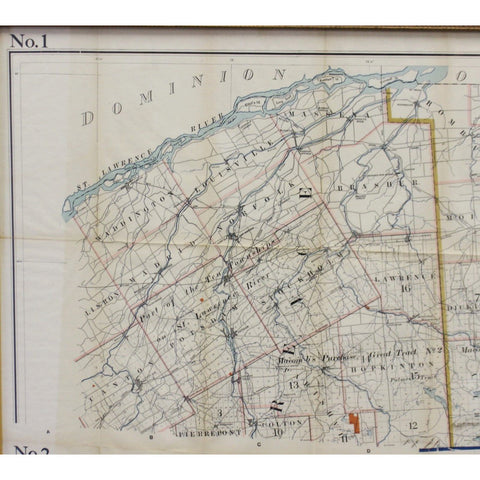 1911 No's 1 & 2 Map of the Adirondack Forest