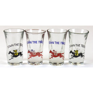 Set of 4 Down The Track Shot Glasses