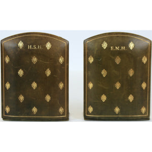 ENH & HSH Leather Folding Bookends