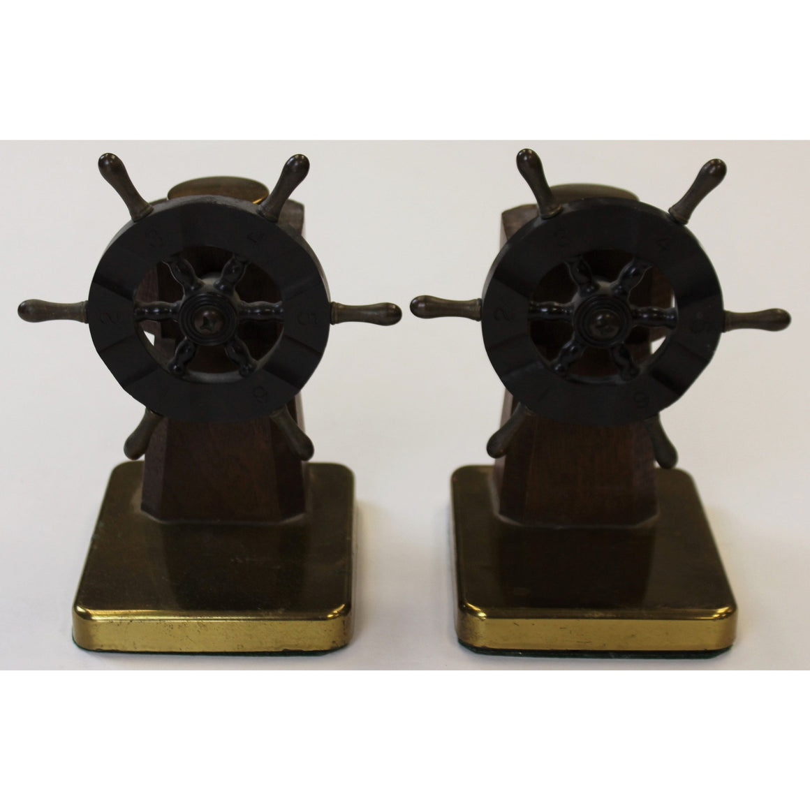 Ship Wheel Bakelite Bookends