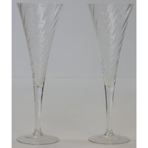 Pair of Fluted Champagne Glasses