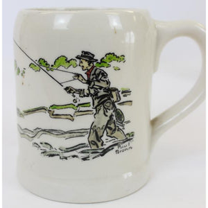 "'Set of 10 Paul Desmond Brown ""Sporting Pursuits"" c.1940's Porcelain Mugs'"