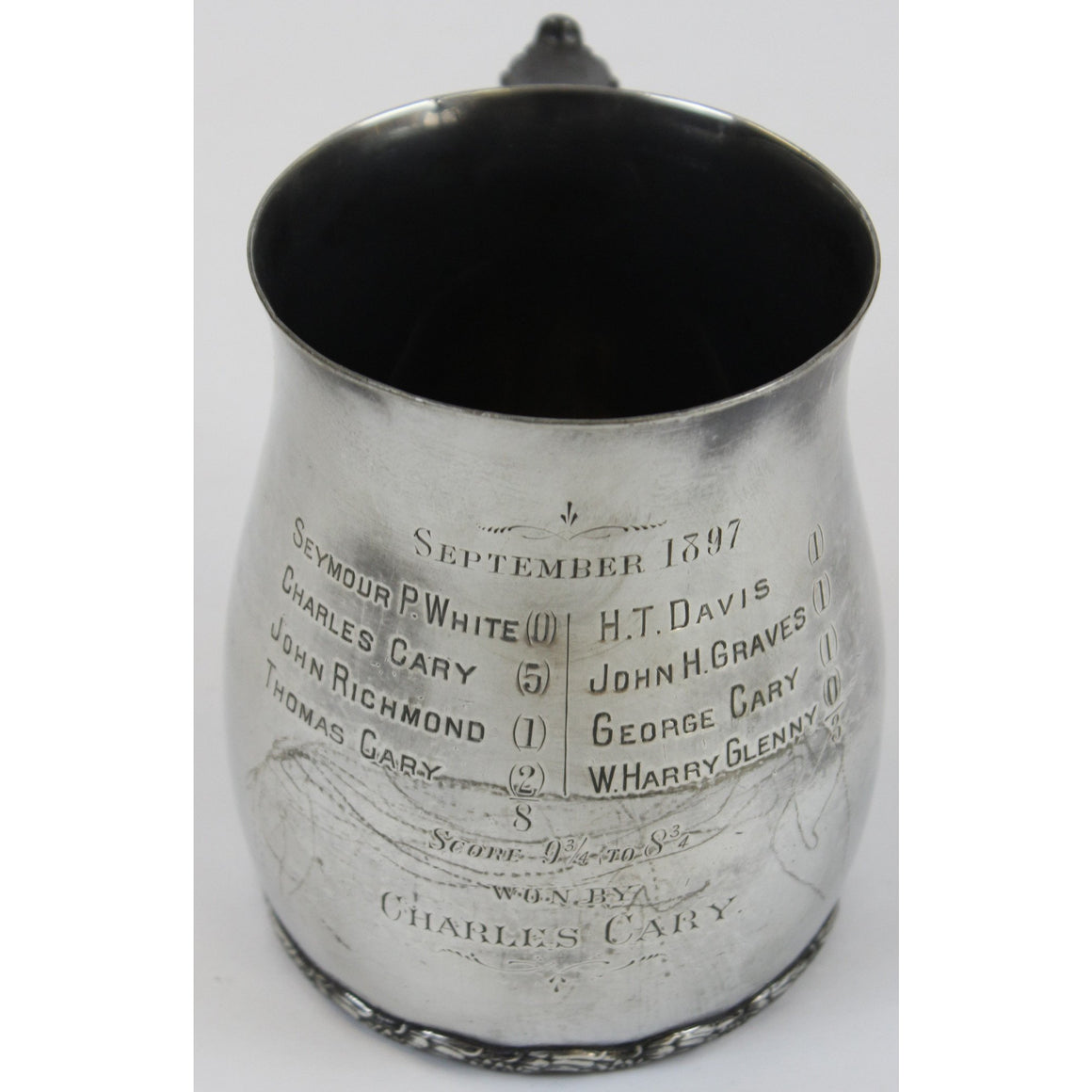 September 1897 Silverplate Polo Mug
