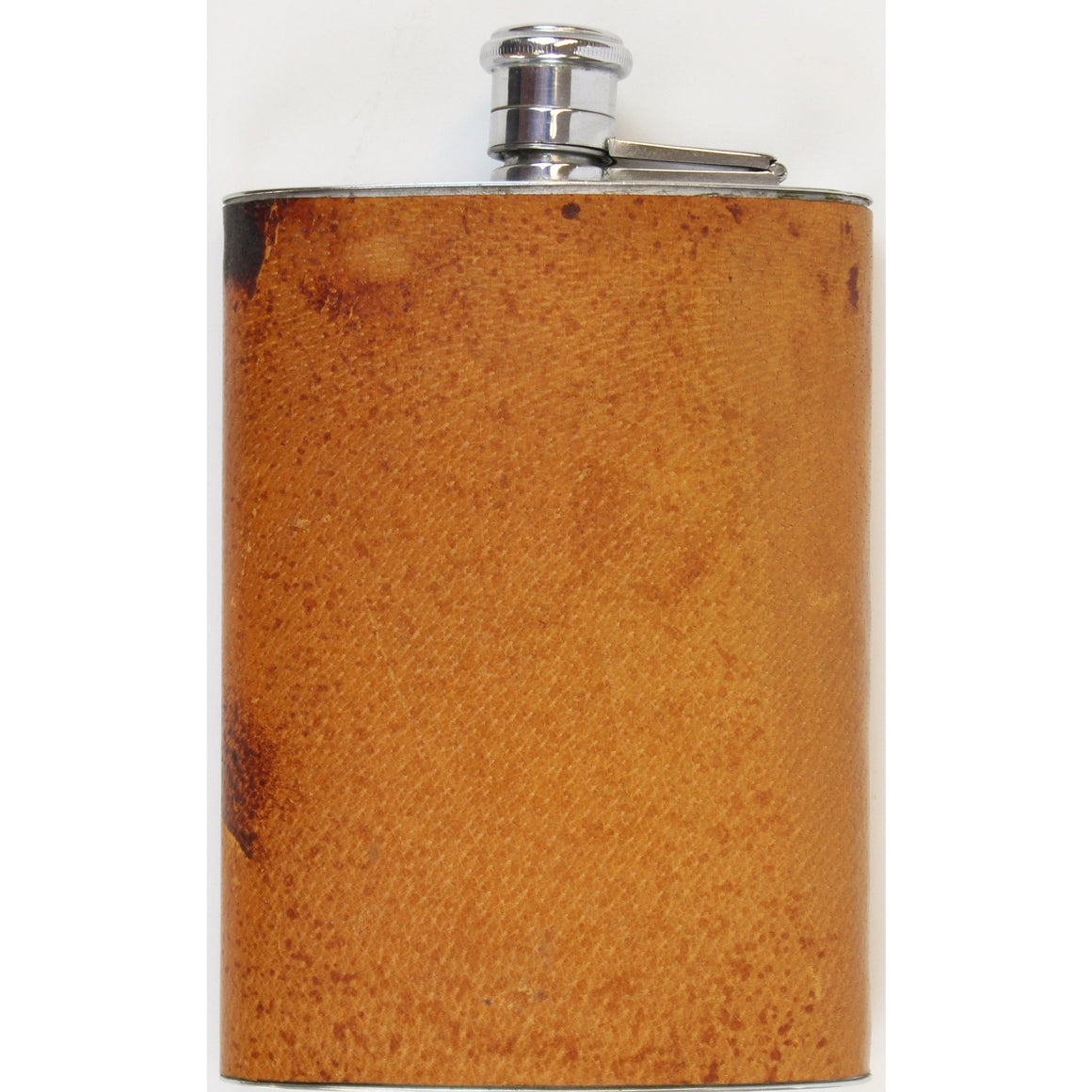 Pigskin Lined Chrome Flask