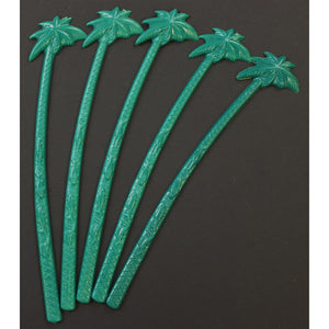 Set of 5 Condado Beach Palm Tree Swizzle Sticks