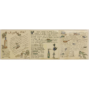 Set of 3 French Recipe Pantry Tiles