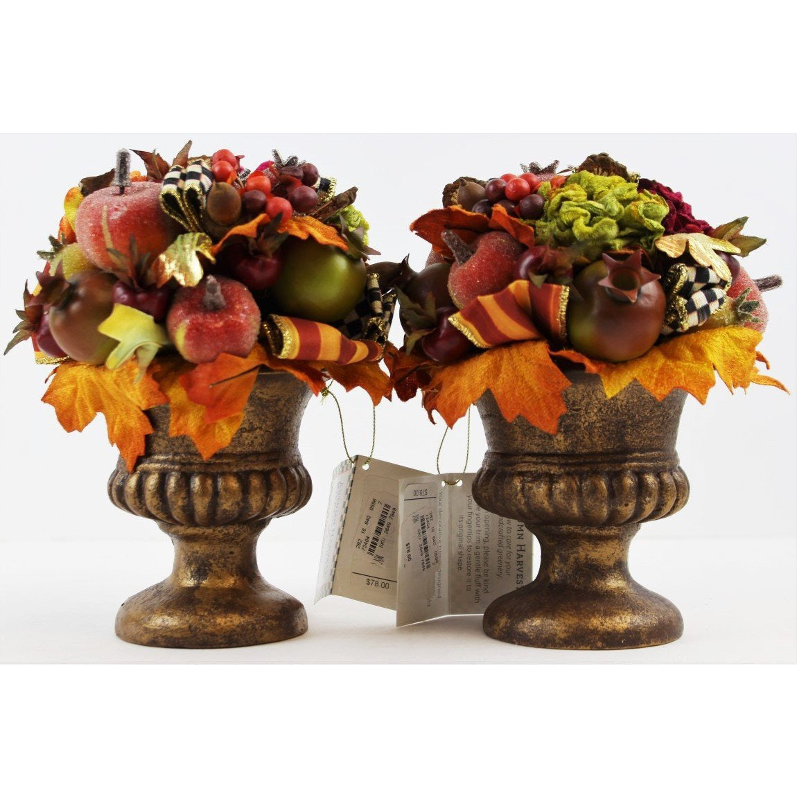 Set of 5 Autumn Harvest MacKenzie-Childs Floral Vases