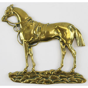 English Brass Horse Relief