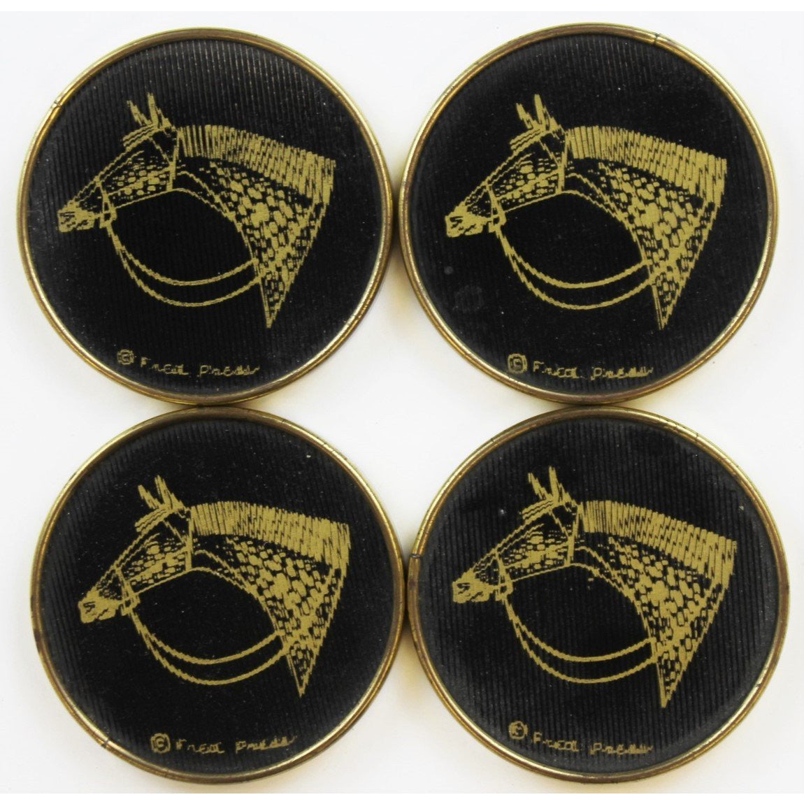 Set of 4 Horsehead Coasters