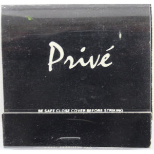 Club Prive Matchbook