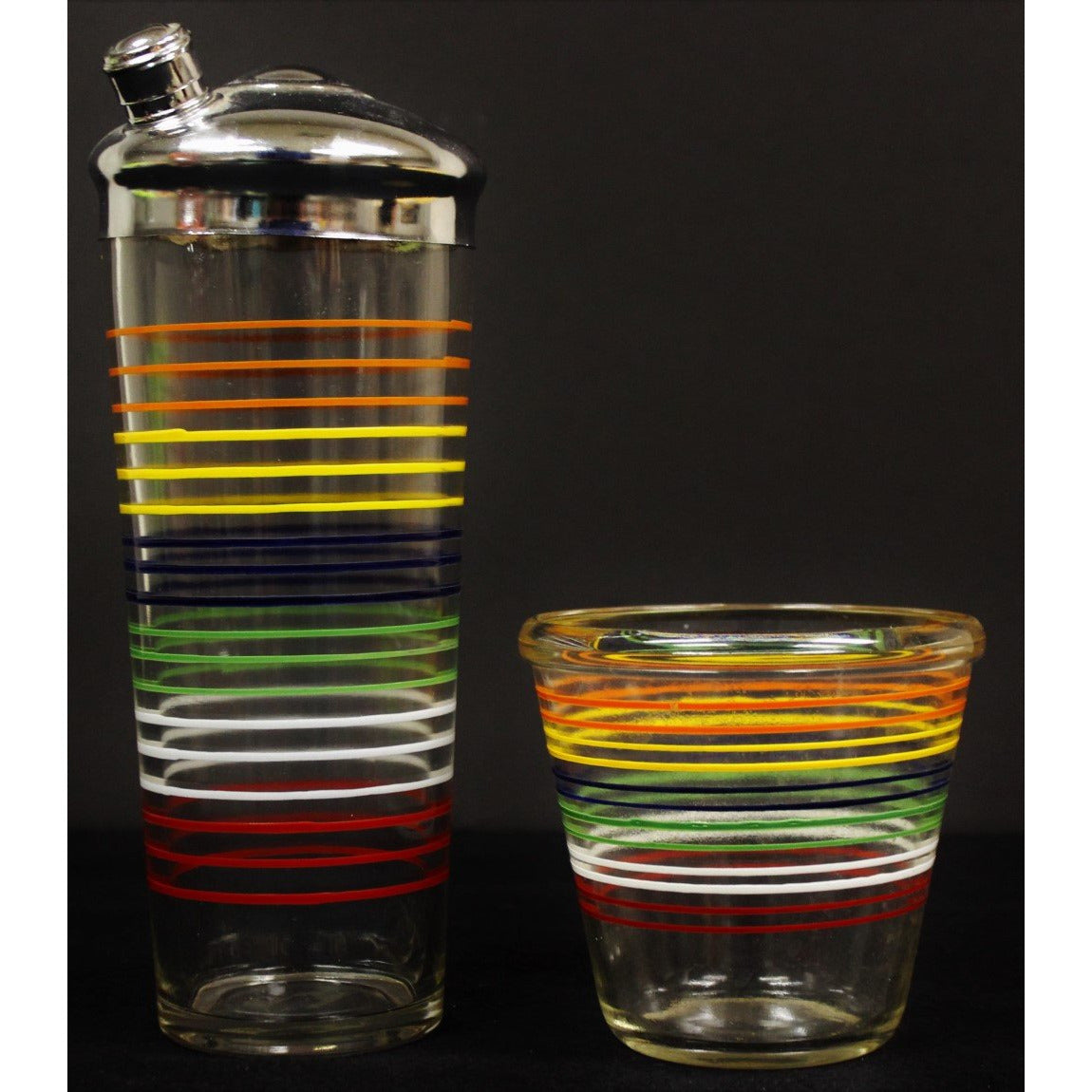 Multi-Color Cocktail Glass Shaker & Ice Bucket