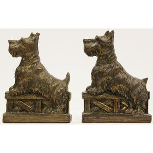 Pair of Bronze Terrier Bookends